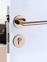 Недорогие -Китайский стиль цинковый сплав дверь вилла ретро из массива дерева механическая спальня черный все меди точность литой замок двери
