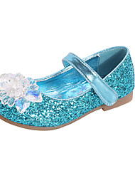 cheap -Girls' Comfort / Flower Girl Shoes PU Flats Dress Shoes Toddler(9m-4ys) / Little Kids(4-7ys) Rhinestone / Sparkling Glitter / Sequin Pink / Blue / Silver Spring / Fall / Party & Evening