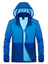 cheap -Men's Hiking Skin Jacket Hiking Jacket Summer Outdoor Waterproof Sunscreen Breathable Quick Dry Jacket Hoodie Top Running Hunting Fishing Navy Blue / Grey / Dark Navy / Dark Blue