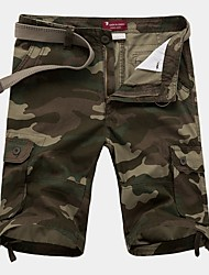 cheap -Men's Basic Loose Shorts Bermuda shorts Pants - Camouflage Summer Blue Khaki Green US32 / UK32 / EU40 / US34 / UK34 / EU42 / US36 / UK36 / EU44