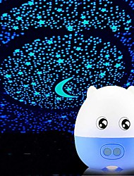 cheap -Baby & Kids' Night Lights Projector Lights Moon Star Starry Night Light LED Lighting Focus Toy LED Exquisite 36 V Batteries Powered Adults Kids for Birthday Gifts and Party Favors  Home