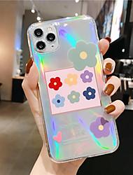 Недорогие -Кейс для Назначение Apple iPhone 11 / iPhone 11 Pro / iPhone 11 Pro Max С узором Чехол Цветы ТПУ