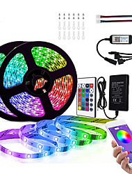 cheap -10M (2 x 5M) Bluetooth LED Strip Lights RGB Tiktok Lights 5050 300 LEDs Smart-Phone Controlled for Home Outdoor Decoration 12V 6A Adapter