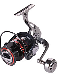 cheap -Fishing Reel Spinning Reel 5.2:1, 4.9:1 Gear Ratio+12 Ball Bearings Sea Fishing / Spinning / Jigging Fishing / Alumium Alloy / Trolling & Boat Fishing / Hand Orientation Exchangable