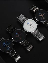 cheap -Men's Dress Watch Quartz Modern Style Stylish Titanium Alloy Black Casual Watch Analog Casual Fashion - Black+Gloden White Red One Year Battery Life