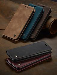 cheap -Caseme Case for Samsung scene graph S20 S20 Plus S20 Ultra A51 A71 Solid color retro matte soft leather card holder wallet all-inclusive anti-fall mobile phone case