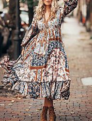 Недорогие -летнее платье с цветочным принтом