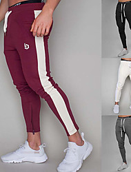 cheap -Men's High Waist Joggers Jogger Pants Track Pants Sports Pants Sweatpants Athletic Athleisure Wear Bottoms Side-Stripe Drawstring Elastane Cotton Running Walking Jogging Training Breathable Moisture