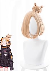cheap -Fate / Grand Order FGO Cosplay Wigs Women's Bob 14 inch Heat Resistant Fiber kinky Straight Yellow Adults' Anime Wig