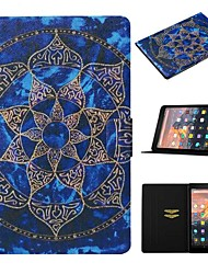 cheap -Case For Amazon Kindle Paperwhite 2/3/4 / Amazon HD8(2016) Card Holder / with Stand / Pattern Full Body Cases Flower PU Leather For kindle fire HD 10 2015 2017