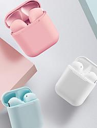 Недорогие -Imosi i12 Tws Macaron Правда беспроводные наушники всплывающее окно 3D стерео звук громкой связи Bluetooth 5,0 наушников для всех смартфонов