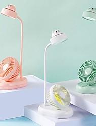 Недорогие -многофункциональная лампа для чтения USB зарядка студентов спальня тихий маленький вентилятор настольный прикроватная настольная лампа, которая экранирует веер
