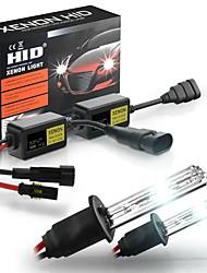 cheap -2Pcs H1 H3 H4 H7 H8 9005 9006 Car HID Xenon Headlights Fog Lamp Super Mini Xenon Light Bulbs Set 55W 3200LM 6000K/8000K