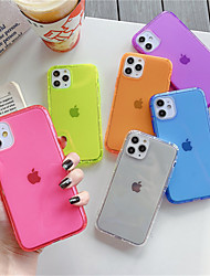 cheap -Case For Apple iPhone 11 Pro Max iPhone 11 Pro Phone Case TPU Material Fluorescence Air Pressure Solid Color Phone Case for iPhone 11 XS Max XR XS X 8 Plus 7 Plus 8 7