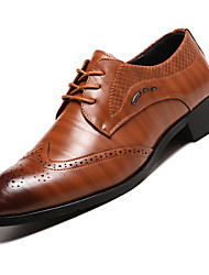 cheap -Men's Spring & Summer Classic Daily Oxfords PU Burgundy / Blue / Brown