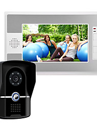 cheap -7 Inch Wire Video Door Phone Home Intercom System IR Camera IP55 Level Waterproof with Unlock Monitor Function P812FG11