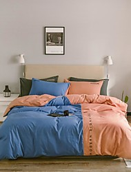 cheap -Four-piece nordic-style four-piece single-double washing cotton bed linen dormitory