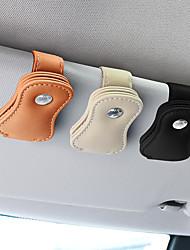 Недорогие -универсальные кожаные автомобильные очки клип автомобильный солнцезащитный козырек клипса держатель авто солнцезащитные очки стеклянная карта хранения билетов