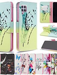 Недорогие -чехол для huawei граф сцены huawei p40 p40 pro p40 lite p40 lite e мультфильм бабочка цветочный узор из искусственной кожи материал держателя карты талреп все включено чехол для мобильного телефона bf