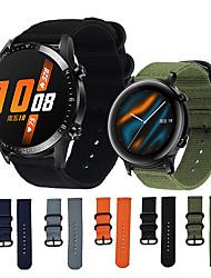 cheap -Nylon Canvas Watch Band for Huawei Watch GT 2 46mm / Huawei Watch GT Replacement Soft Nylon Strap Adjustable Buckles Strap for  Huawei Watch GT 2 / Huawei Watch GT