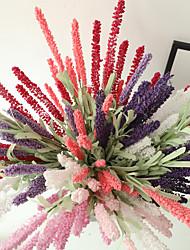 Недорогие -51см 12 прованс лаванда цветок завод искусственный цветок украшение цветок 1 палка