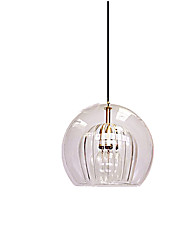 cheap -ZHISHU 15 cm Single Design Pendant Light Copper Glass Globe Electroplated Nature Inspired 110-120V / 220-240V