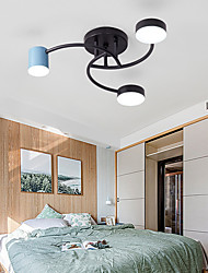 cheap -Ceiling Lamp Modern Led Bedroom Lamp Simple Hanging Living Room Lamp 36W Three Color Light