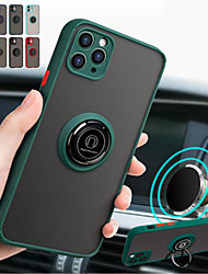cheap -Camera Protection Case For iphone SE 2020 / 11 / 11Pro /11 Pro Max / X / XR  / XS Max / 8 /  8 PLus / 7 / 7Plus / 6S Plus / 6S Magnetic Ring Bracket Holder Luxury Shockproof Full Cover