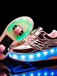 cheap -Boys' / Girls' LED Shoes / USB Charging Synthetics Trainers / Athletic Shoes Little Kids(4-7ys) / Big Kids(7years +) Black / Pink / Gold Fall / Winter