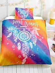 cheap -Duvet Cover Set Bohemian Bedding Colorful Boho Chic Dreamcatcher Printed Southwestern Tribal Navy Floral Bedding Set King 1 Duvet Cover 2 Pillowcases