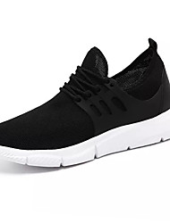 cheap -Men's Spring & Summer Sporty Athletic Trainers / Athletic Shoes Running Shoes PU / Elastic Fabric Non-slipping White / Black / Red