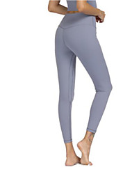 cheap -Women's High Waist Yoga Pants Cropped Leggings 4 Way Stretch Breathable Quick Dry Dark Pink Army Green Jade Non See-through Yoga Pilates Sports Activewear High Elasticity Skinny / Moisture Wicking
