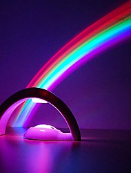 cheap -LED Night Light Rainbow Projector 3D LED Projection Lamp Night Scape Lighting Baby Kid Bedroom Night Light for Christmas Gift Birthday Sleeping Light