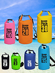 cheap -10/15/20/30 L Waterproof Dry Bag Waterproof Backpack Floating Roll Top Sack Keeps Gear Dry for Swimming Water Sports