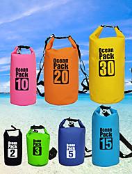 cheap -10/15/20/30 L Waterproof Dry Bag Waterproof Backpack Floating Roll Top Sack Keeps Gear Dry for Swimming Water Sports