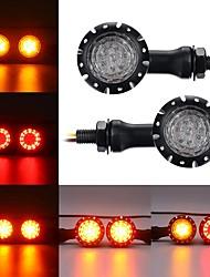 cheap -12V LED Turn Signals Brake Lights Indicator For Harley Chopper Motorcycle Black