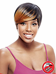 cheap -Hair Care Costume Accessories Hair Accessory Straight Afro Party everyday Pixie Cut Layered Haircut Wig Black / Blonde Short Black / Blonde Synthetic Hair 8 inch Women's Party Women Synthetic Black