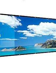 Недорогие -169 106 * 59-дюймовый портативный проекционный экран складной нет складок для домашнего кинотеатра на открытом воздухе