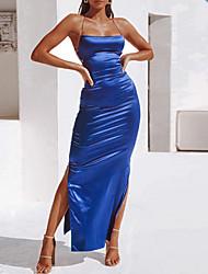 cheap -2020 SUMMER Satin Sexy Dress