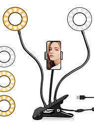 cheap -Selfie Double Ring Light With Long Arm Lazy Mobile Phone Holder Bracket Photography ringlight LED Light For Youtube tik tok Live Stream