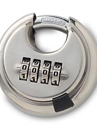 cheap -Large 4 Bit Stainless Steel Gate Warehouse Outdoor Round Discus Discus Ingot Password Lock Padlock Discus