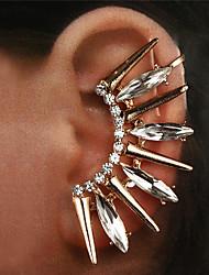 cheap -Women's Clear Ear Cuff Earrings Rivet Lucky Vintage Trendy Fashion Modern Oversized Imitation Diamond Earrings Jewelry Gold / Silver For Daily Street Club Bar 1pc