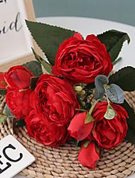 Недорогие -30см корейский стиль 5 голова филипп персидская роза искусственный цветок домой свадебный пион цветок 1 букет