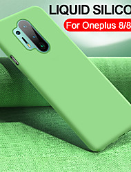 cheap -Original Liquid Silicone Phone Case For OnePlus 8 Pro OnePlus 7 Pro OnePlus 6T One Plus 7T Pro One Plus 6 Soft TPU Bumper Shockproof Protection Back Cover