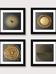 cheap -Framed Art Print Framed Set 4 - Nordic Abstract Style Living Room Dining Room PS Illustration Wall Art