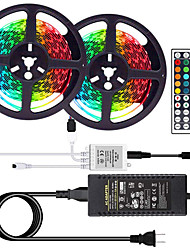 cheap -LOENDE 10M 2x5M LED Light Strips RGB Tiktok Lights SMD 5050 600LEDs IP20 Non Waterproof Lighting Color Changing Tape with 44 Keys IR Remote Controller DC 12V 6A Power Supply for TV Home Kitchen Bedroo