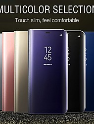 cheap -Smart Mirror Flip Clear View Cover Phone Case For OnePlus 8 Pro OnePlus 7T Pro One Plus 7 Pro OnePlus 6T One Plus 6 Leather Holder Stand Case