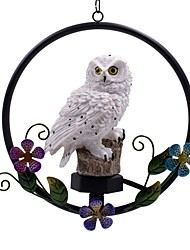 cheap -Owl Solar Light With Solar LED Panel Fake Owl Circle Flower Hanging Lamp Waterproof IP65 Outdoor Courtyard Path Yard Garden Lamp