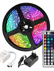 cheap -5m Flexible LED Strip Lights Light Sets RGB Tiktok Lights 2835 SMD 8mm RGB Remote Control RC Cuttable Dimmable 100-240 V Linkable Self-adhesive Color-Changing IP44