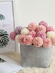 Недорогие -29см моделирование цветок одуванчик с одной головкой шип мяч домой с цветами 1 палка